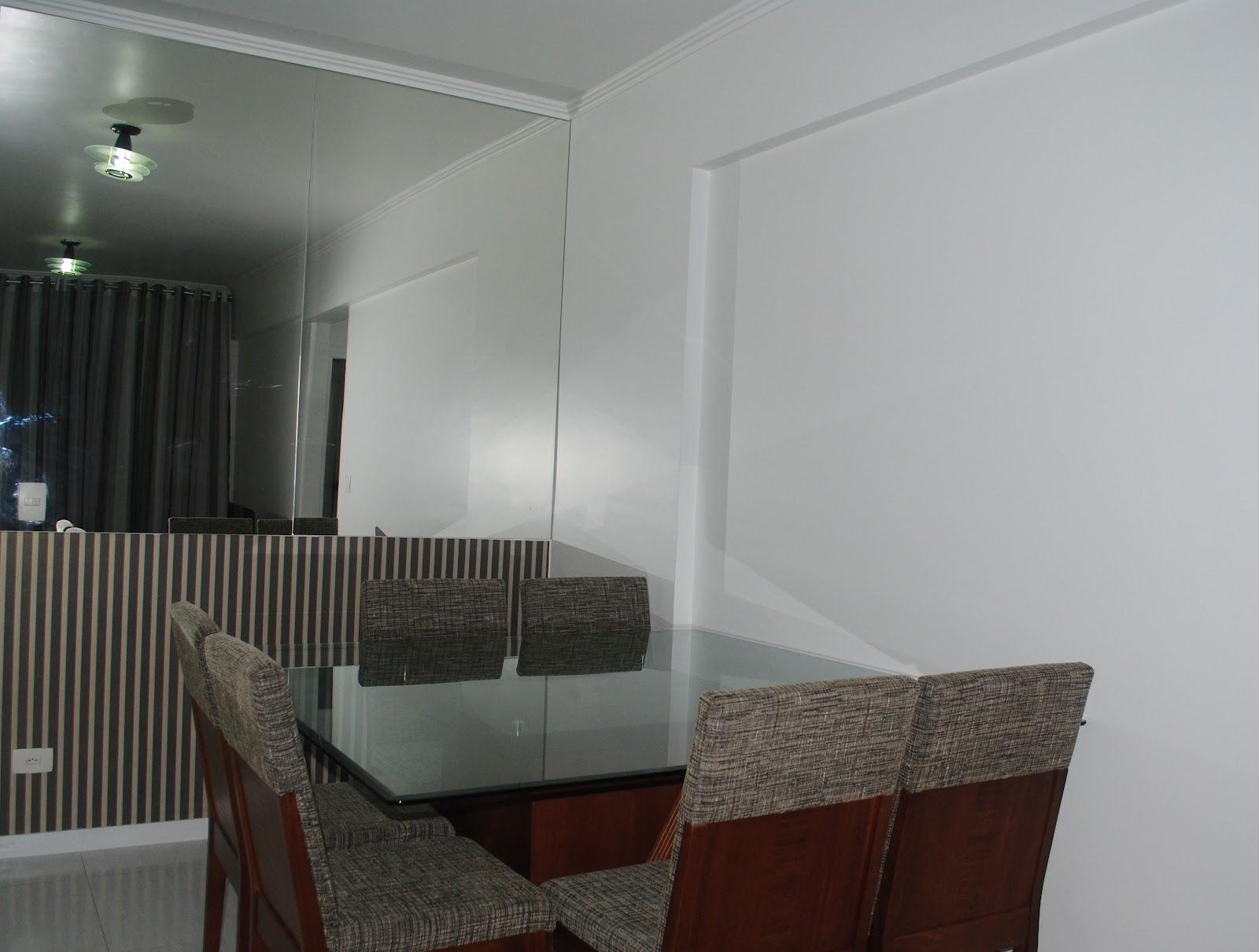 Espelho Parede Sala Jantar Aparadores Com Espelho Na Parede  -> Sala De Jantar Pequena Com Espelho Na Parede