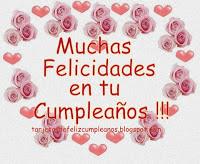 tarjeta de cumpleaños - diseño 6 -corazones y rosas by Silvia MPR
