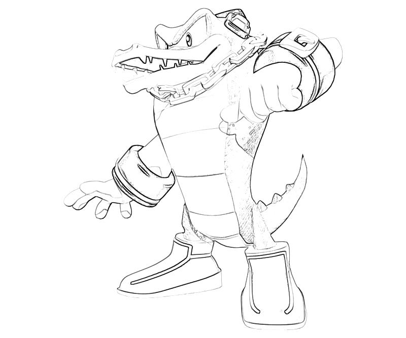 Sonic Generations Vector The Crocodile Character Surfing