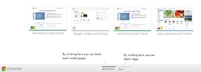 Most Visited and Apps Google Chrome