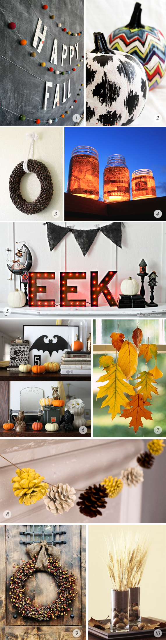 10 Great Autumn Inspired DIY Projects // Bubby and Bean