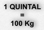 Un quintal equivale a 100 kg