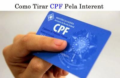 COMO TIRAR CPF - COMO TIRAR CPF PELA INTERNET