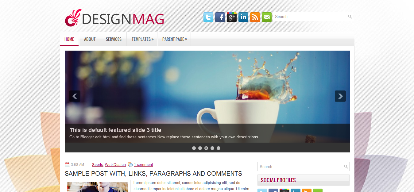 DesignMag Blogger Template | Cool Blog Templates | Premium Blogger ...