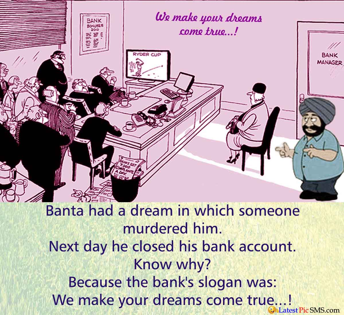 Banta Bank Dream Jokes