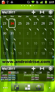 Pure Grid calendar widget Android App ,