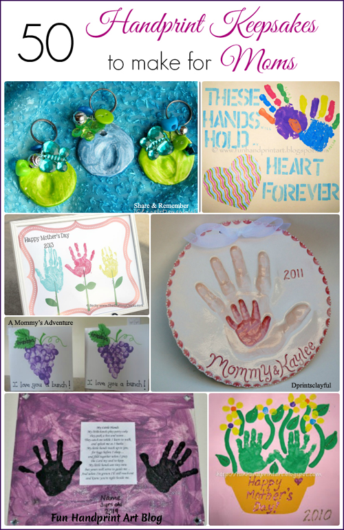 50 Handprint Keepsakes to make for Moms #HandprintHolidays