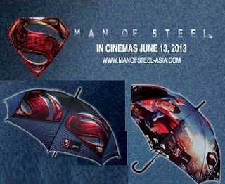 DC comics Superman Man of Steel movie reboot Umbrellas KFC Kentucky Fried Chicken Malaysia Asia exclusive limited edition