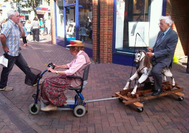 16 Elderly Couples Prove You're Never Too Old To Have Fun - Grandpa Decided To Pimp His Ride, Grandma Agreed