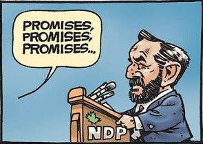 Mayes: Tom Mulcair and the NDP deliver promises by the bushel and by the peck.