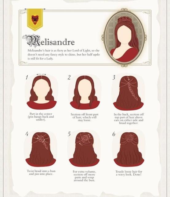 cómo hacerse el peinado de Melisandre - Juego de Tronos en los siete reinos