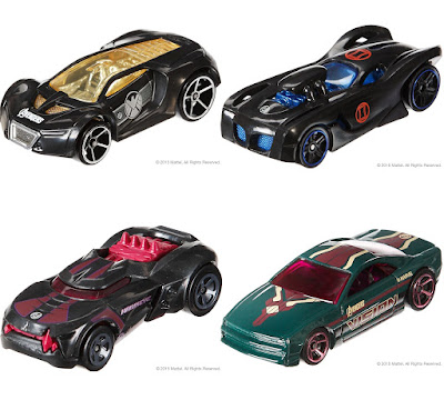 Marvel's Avengers Age of Ultron Hot Wheels Cars Series - Nick Fury, Black Widow, Hawkeye & Vision