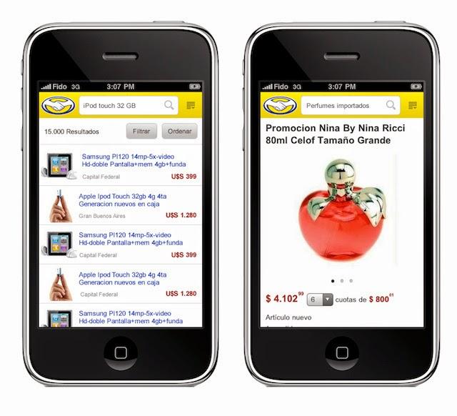Aplicación de Mercado Libre para android