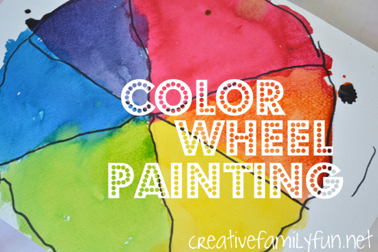 Color Wheel Painting Creative Family Fun