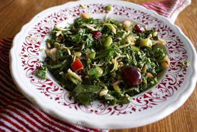 Kale, Fruit, and Nut Power Salad