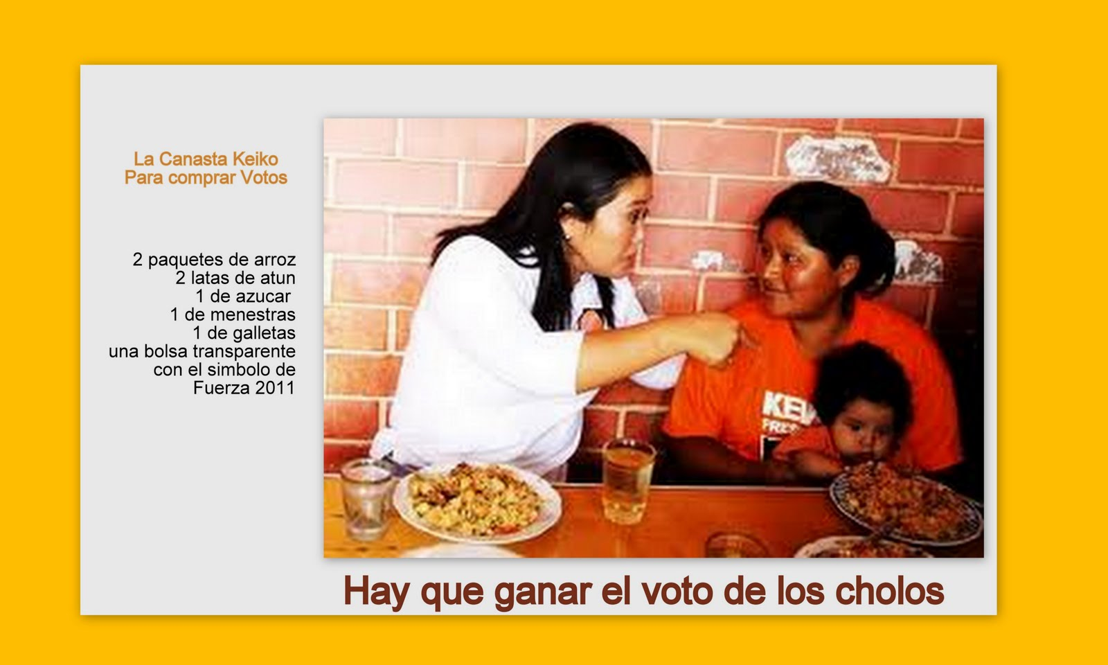 Peru un pais donde los votos se compran por un plato de for Donde se compran los vinilos decorativos