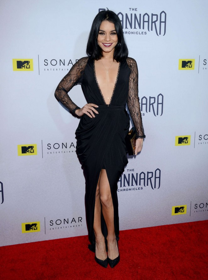 Vanessa Hudgens takes the plunge at 'The Shannara Chronicles' premiere party in LA