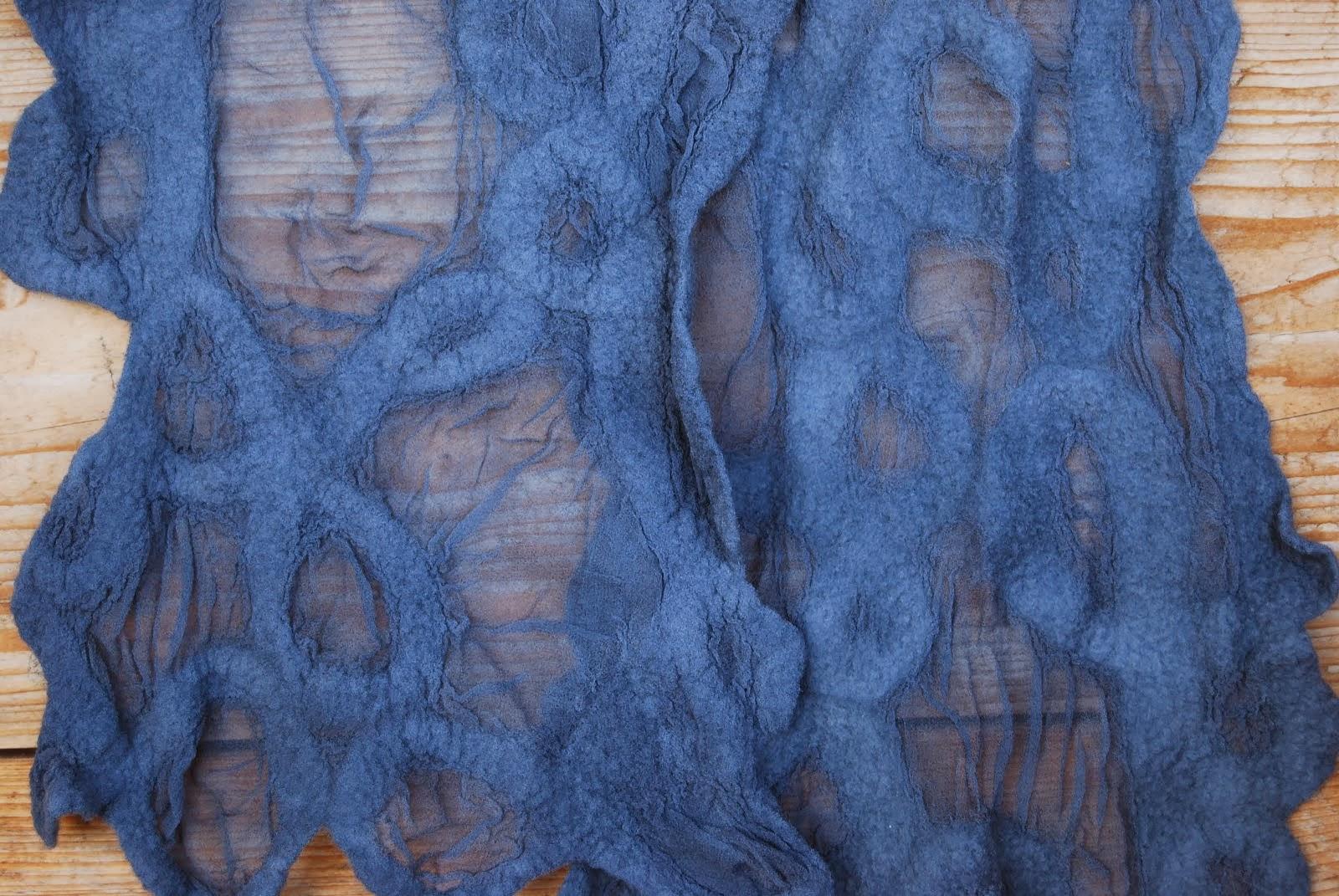 naaldvilt op zijde - sjaal