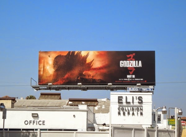 Godzilla film billboard