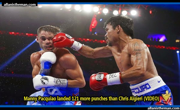 Manny Pacquiao landed 121 more punches than Chris Algieri (VIDEO)