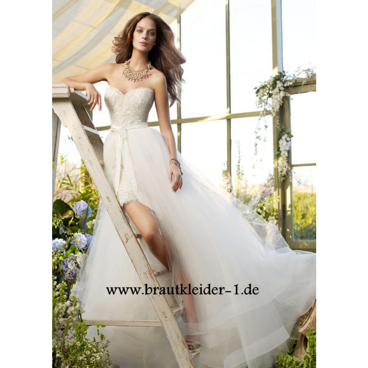Brautkleider auf Rechnung: Vokuhila Brautkleider - Vokuhila Brautkleid ...