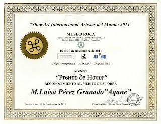Premio de Honor en Museo Roca [Buenos Aires]