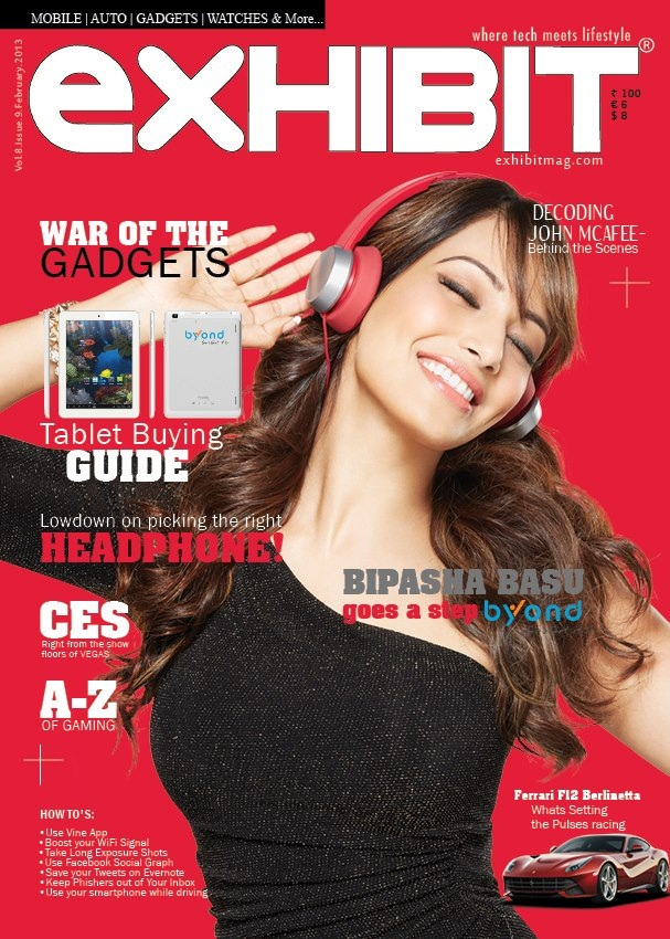 Bipasha Basu Cover Of Exhibit Magazine India Feb 2013