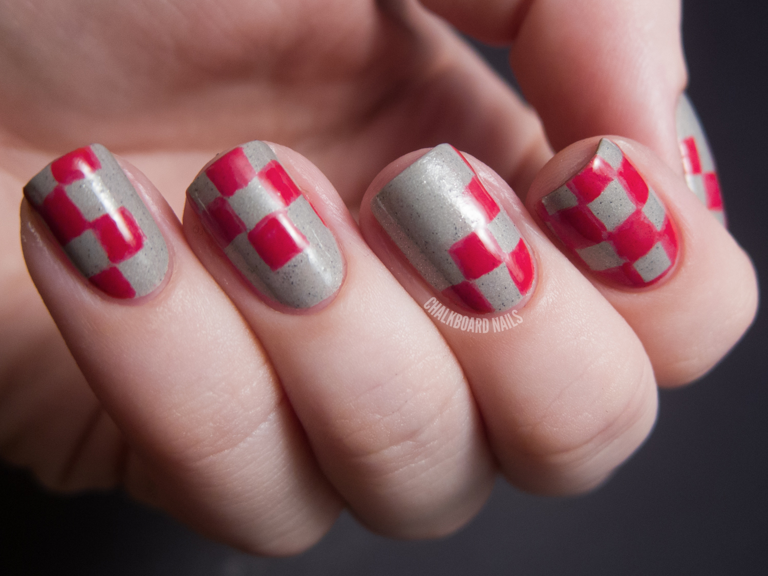 to do pattern nails i decided to do checkerboard nails