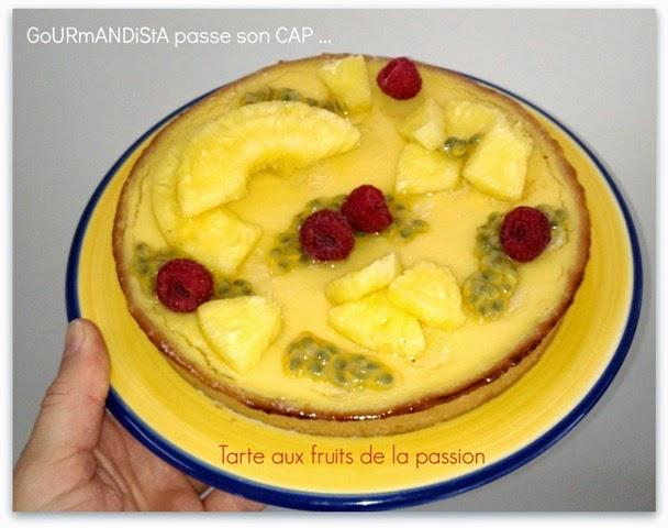 imageGoURmANDiStA passe son CAP pâtisserie : Tarte aux fruits de la passion