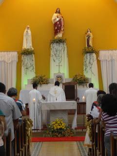 Imagens da 2ª noite de novena em honra ao Sagrado Coração de Jesus