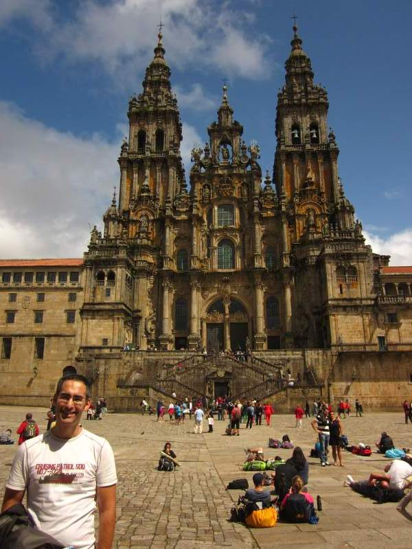 spain santiago de compostela beautiful places of