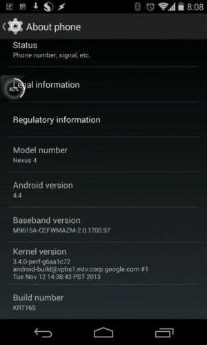Update Android 4.4 KitKat Mulai Sambangi Nexus 4