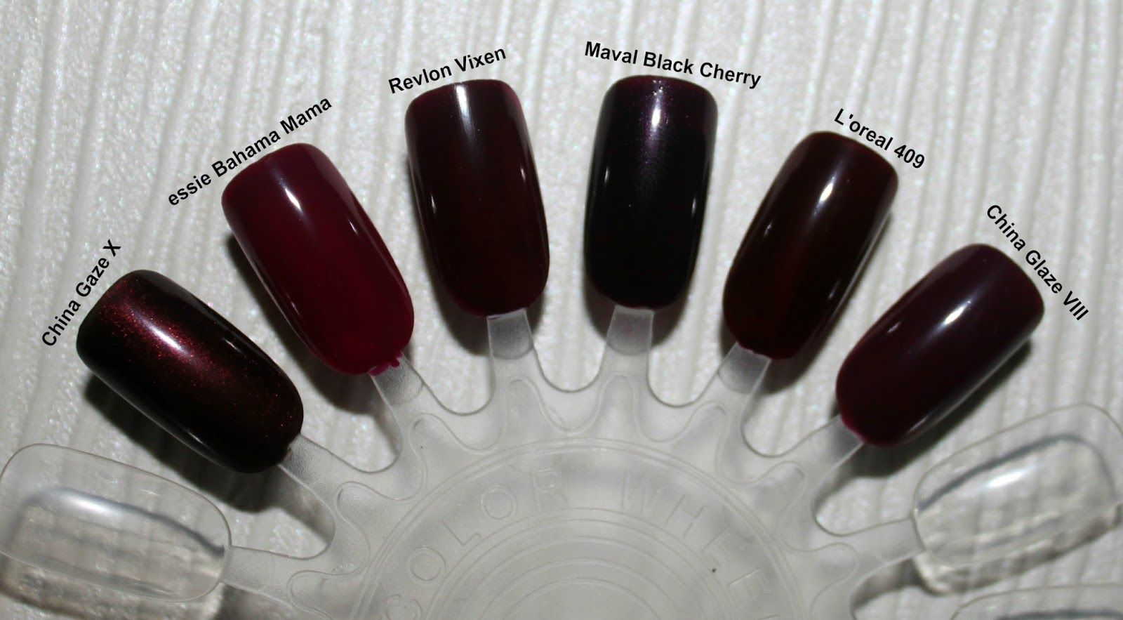 TOP 6 MAROON NAILS | Makeup and Beauty Mayhem