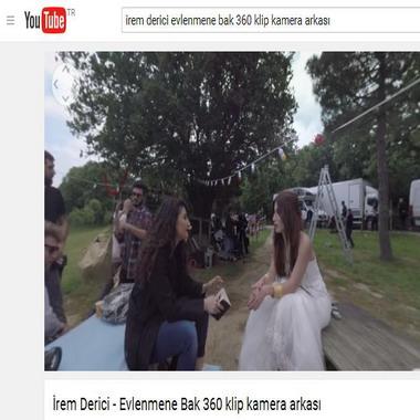 youtube com - irem derici - evlenmene bak 360 klip kamera arkası