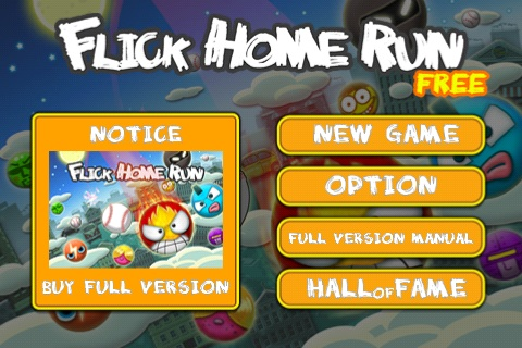 Flick Home Run Free App Game By Infinity Pocket