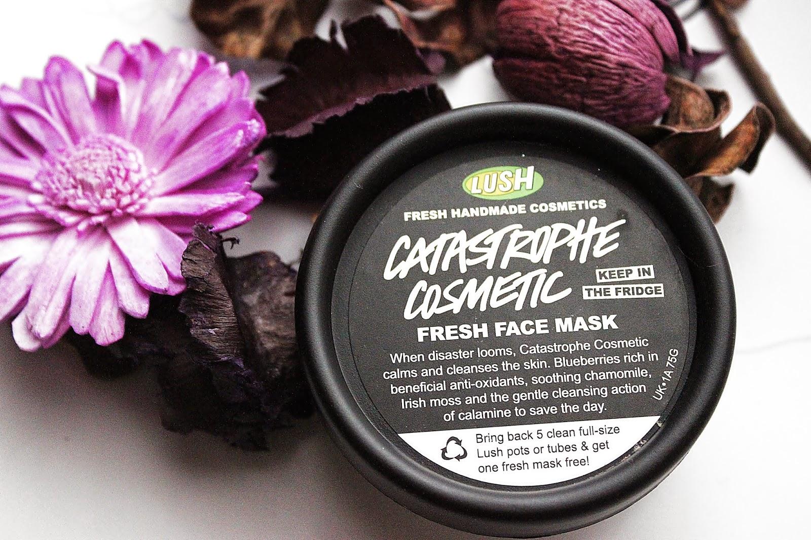 LUSH, Catastrophe Cosmetic, maseczka do twarzy, naturalna maseczka, kosmetyki naturalne