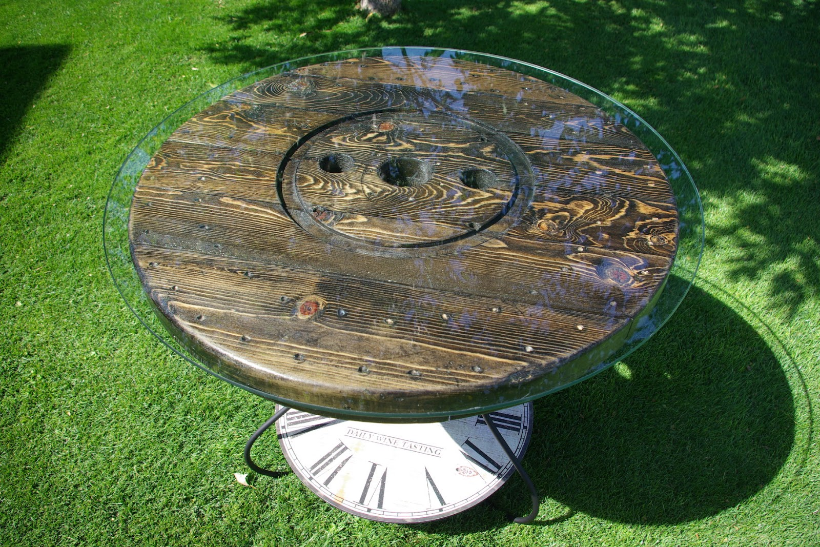 Reclaimed Rustics Wire Spool Kitchen Patio Table