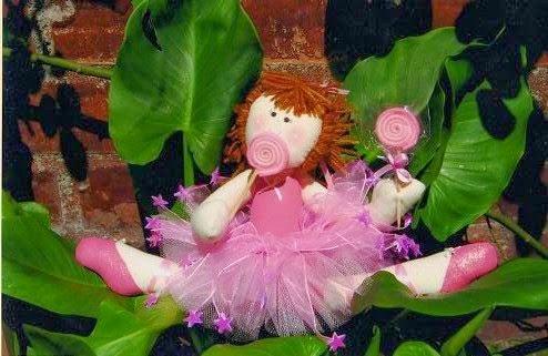 Boneca bailarina de pano com moldes
