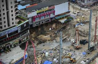 agujero enorme en China