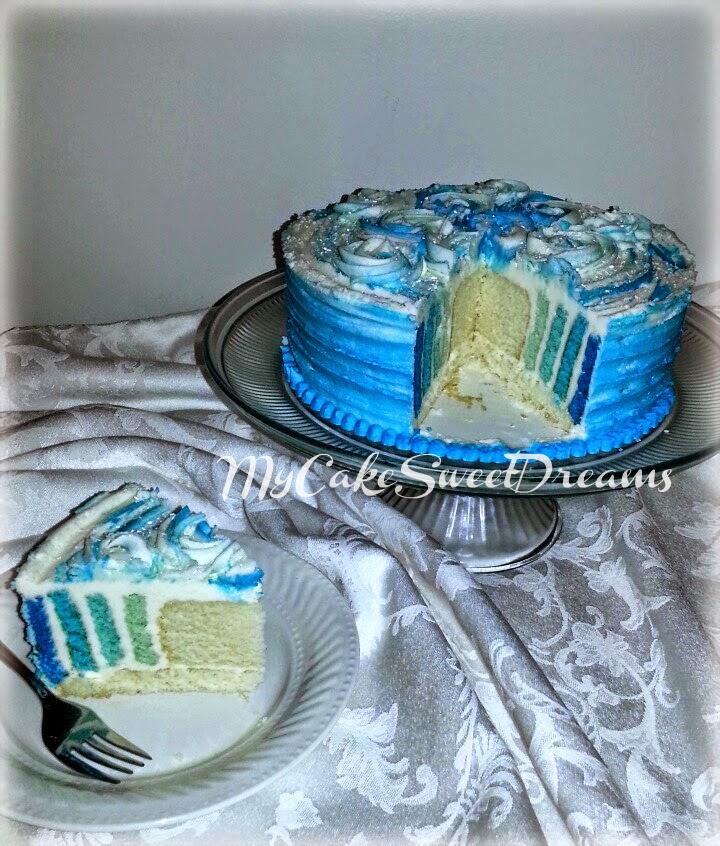 Sky Blue Cake Images : My Cake Sweet Dreams: Sky Blue Ombre Cake...