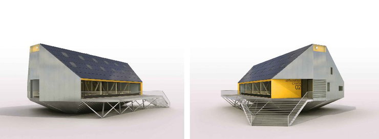 Projekt schroniska Schronisko Kieżmarskie Kežmarská chata