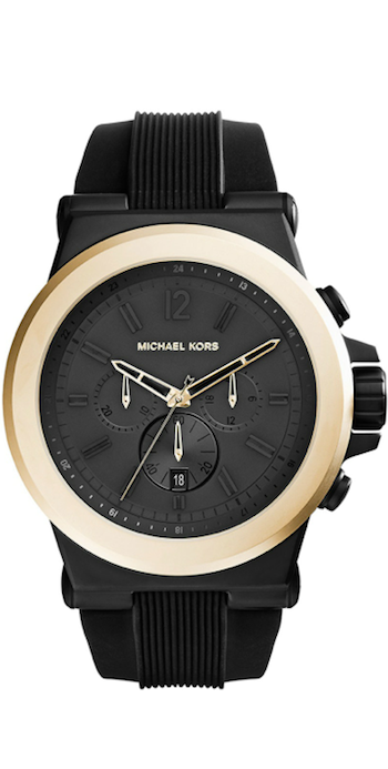 Michael Kors Oversized Dylan Silicone Golden Chronograph Watch