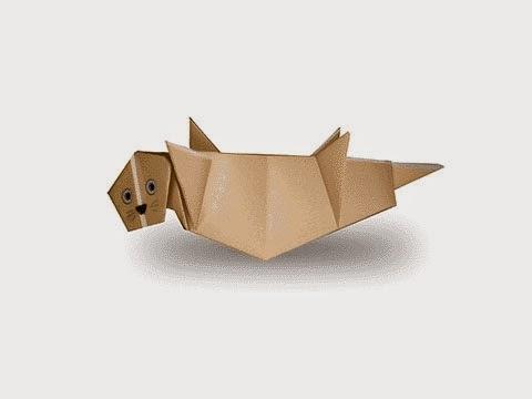 Cách gấp, xếp con rái cá bằng giấy origami - Video hướng dẫn xếp hình sinh vật dưới nước - How to fold a Sea Otter