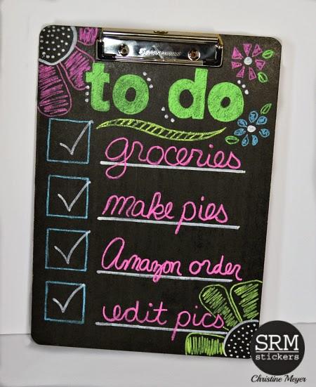 diy chalkboard clipboard - SRM Stickers
