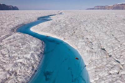 O rio de gelo da Groelândia