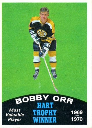bobby orr 1970-71 o-pee-chee hart trophy boston bruins hockey card