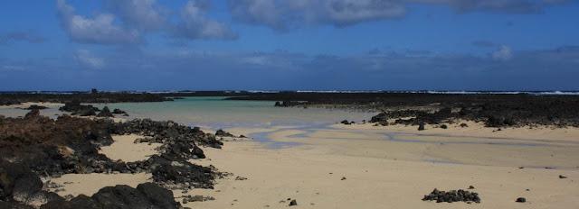 Playa nudista Charca de la Laja (Lanzarote)