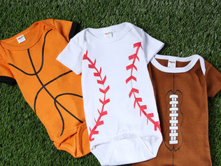Adorable Sports Onsies from Zulily