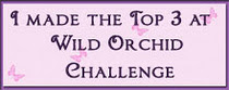 I made the Top 3 At The Wild Orchid Crafts Challenge