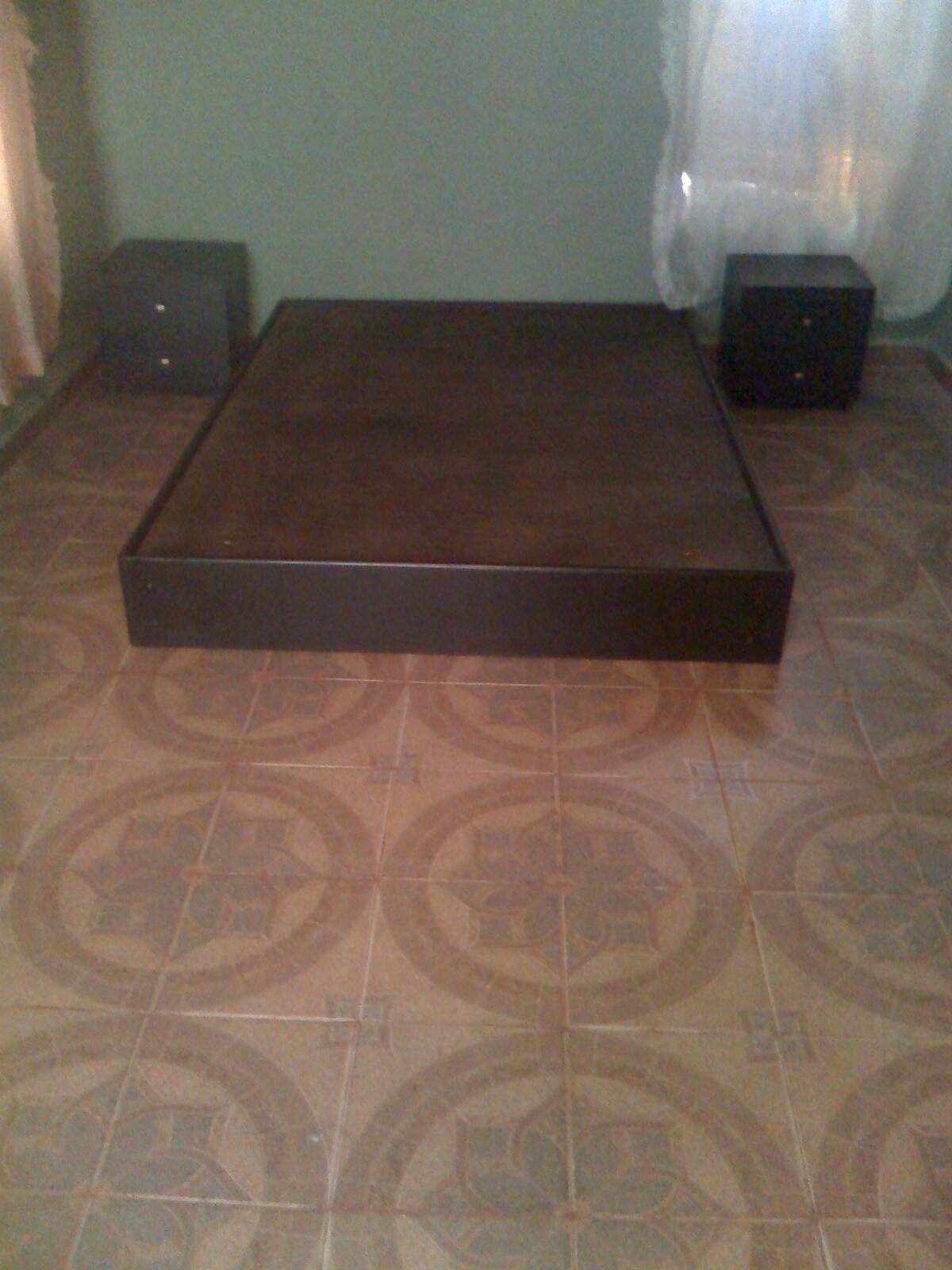 Carpinteria base de cama individual con cajones tipo rusticos for Base cama individual con cajones